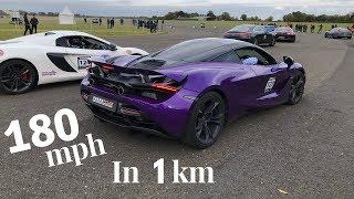 180mph in 1km McLaren 720S - Runwayclub IRL Challenge 1000 - 2018