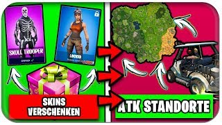HOW/WHEN SKINS GIFT? 🎁🏌️ ALL LOCATIONS GOLF AUTOS | Fortnite Season 5 German