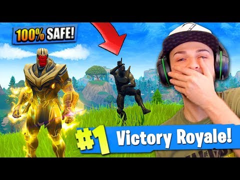 THANOS *TROLLING* in Fortnite: Battle Royale! (Can't be killed)