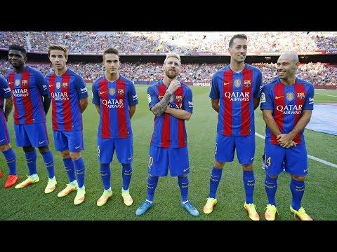 FC Barcelona's squad presentation for 2016/17