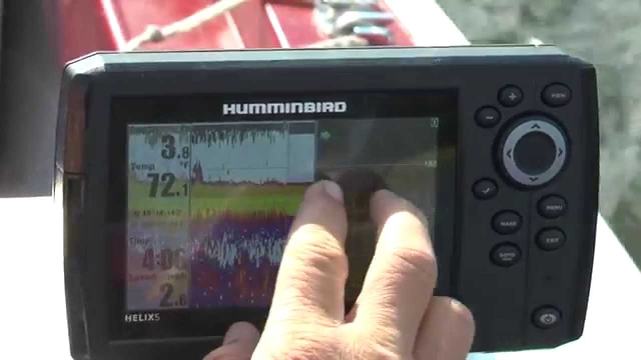 how to find fish and structure with side imaging & down imaging, Fish Finder