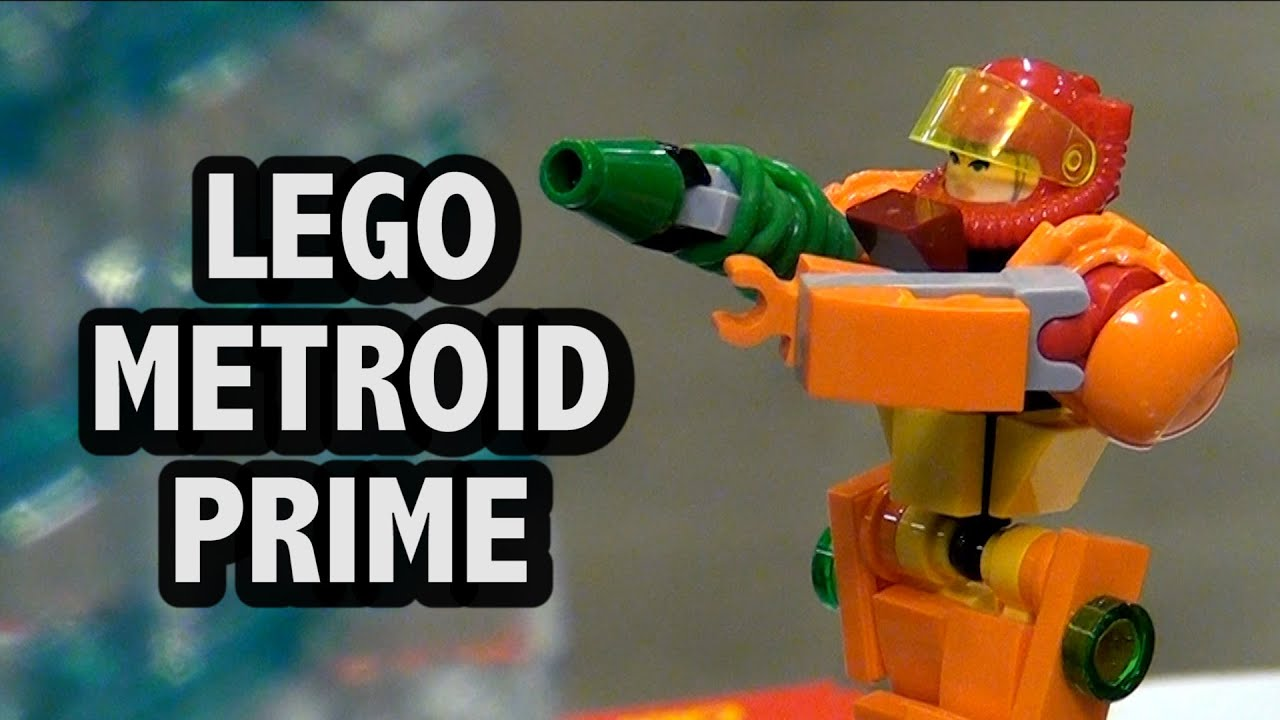 LEGO Metroid Prime Parasite Queen Battle - YouTube
