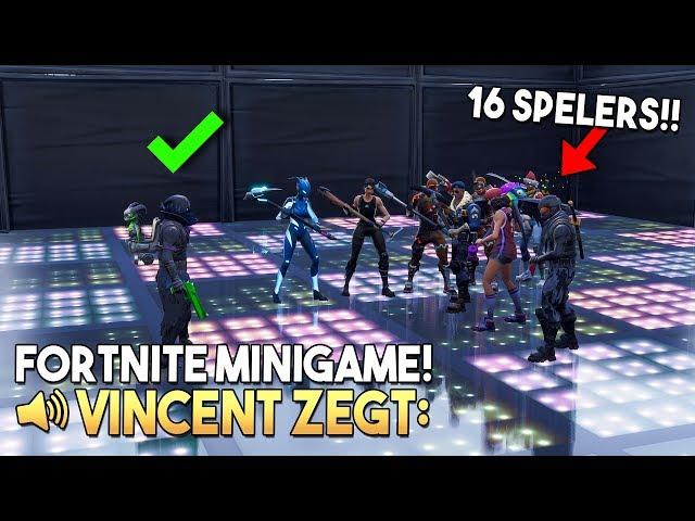 VINCENT ZEGT 2.0 *MET 16 SPELERS* - Fortnite Creative (Nederlands)