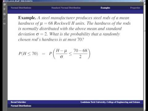 Concise Modular Calculus [47/97]: Normal Distribution (3c/5 on Continuous Distributions)