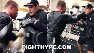 (WOW!) CANELO UNLEASHES BLISTERING HUNDRED HAND SLAP FLURRY; READY TO LIGHT UP ROCKY FIELDING