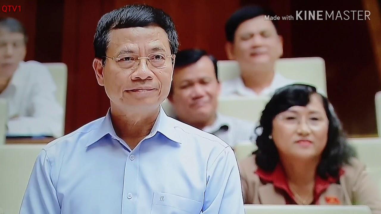 Bộ trưởng truyền thông Nguyễn Mạnh Hùng trả lời chất vấn QH 6/6/2019