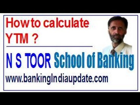 How to calculate Yield to Maturity (YTM)