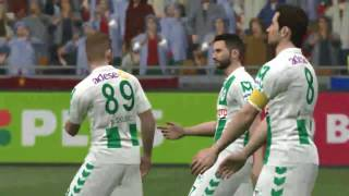 Trabzonspor vs konyaspor PES 2017 #Türkçe