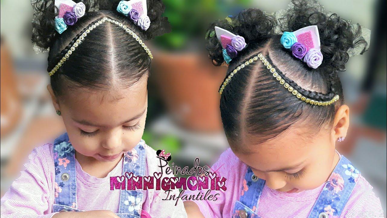 Peinados Para Nina Trenzas Dos Cola Oreja De Unicornio Youtube