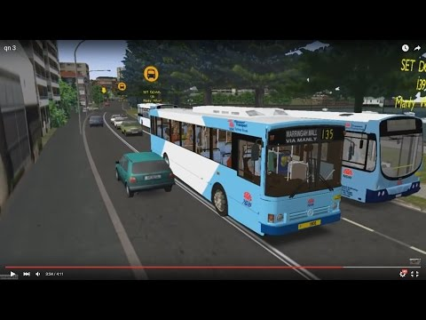 Omsi 2 tour (628) Sydney bus 135 North Fort - Manly - Warringah Mall @ MB O405 澳洲 悉尼