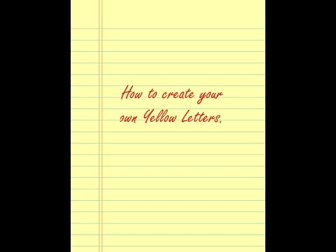 How To Create Your Own Yellow Letters | 626-387-3962