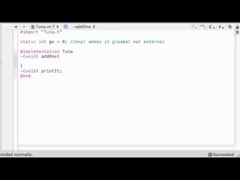 Objective C Programming Tutorial - 45 - Static Variables