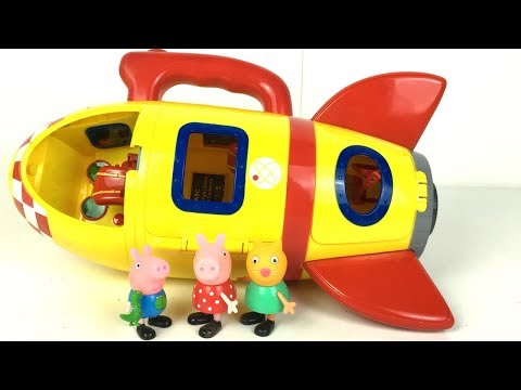 STORY PEPPA PIG CANDY CAT AND GEORGE HEAD OUT IN A ROCKETSHIP AND DISCOVER FUN CREATURES ON A PLANET