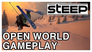 STEEP Open World Gameplay Part 1 & Massive World Map [Skiing & Wingsuit / PS4 1080p]