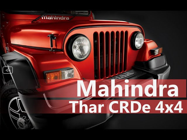 Mahindra Thar CRDe 4x4  Price in India, Review, Test drive   Smart Drive 1 May 2016