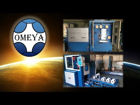 OMEYA Technology - 2WD Dual Wire Drawing Line + Automatic Dual Spooler - Tinned Copper Wire