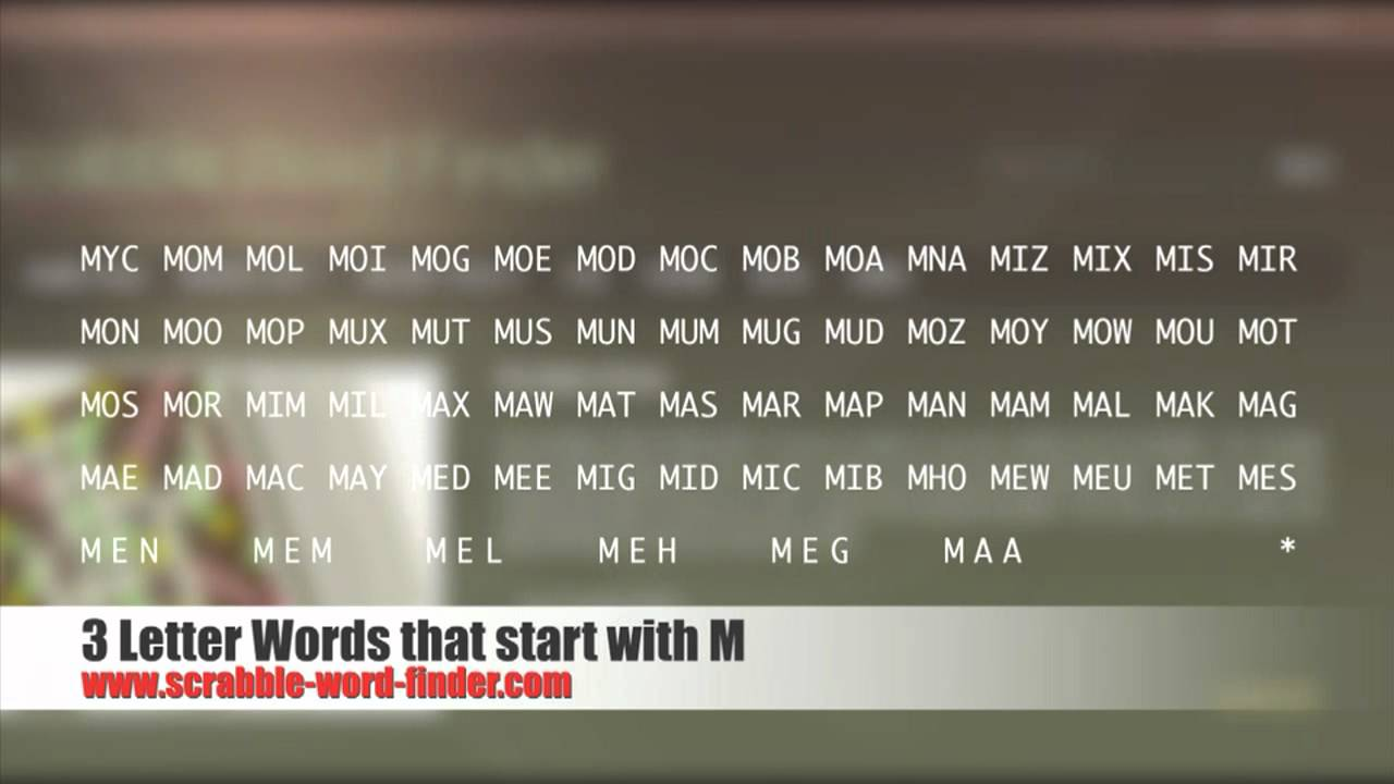 3 Letter Words That Start With M Youtube