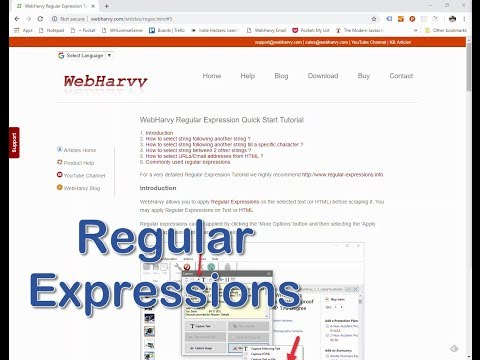 Download Web Scraping Tutorial Using Webharvy Using Regular