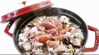 魏太太廚房:排骨臘腸煲仔飯 ♡ Pork Ribs and Sausage with Rice in Claypot