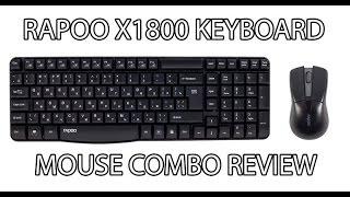 Rapoo X1800 Wireless Combo Full Reveiw