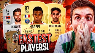 FASTEST PLAYERS IN FIFA 19!