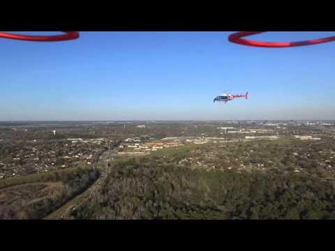 ABC 13 Houston News chopper circles my drone