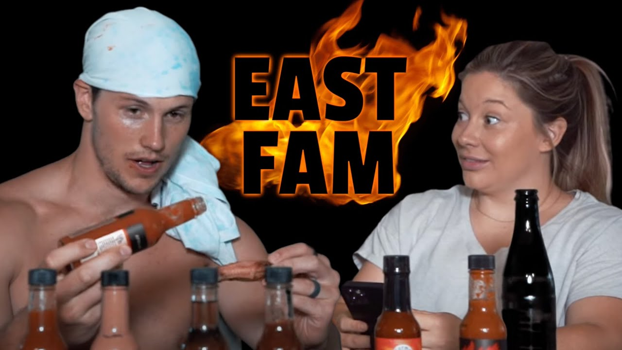Dad Drips Sweat While Eating Spicy Wings | Hot Ones with the east fam