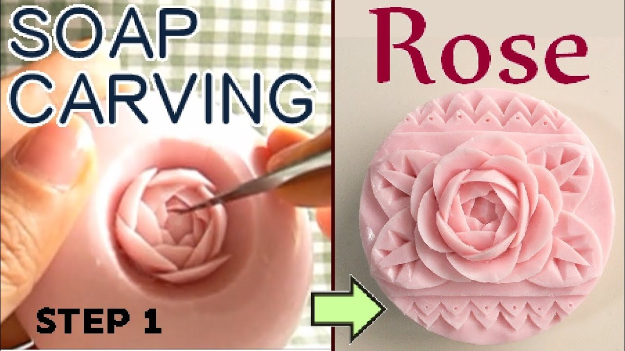 Soap carving tutorial for a rose step doovi