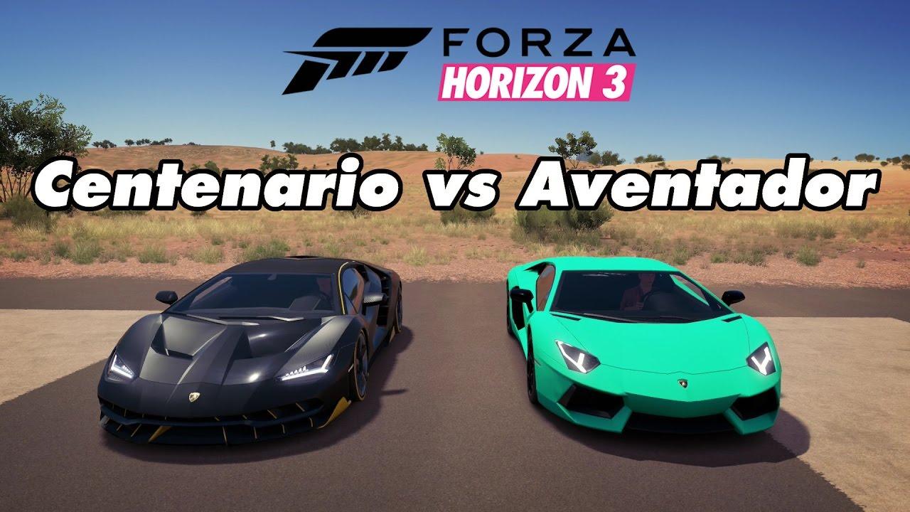 Forza Horizon 3 Drag Races 01 Lamborghini Centenario Vs