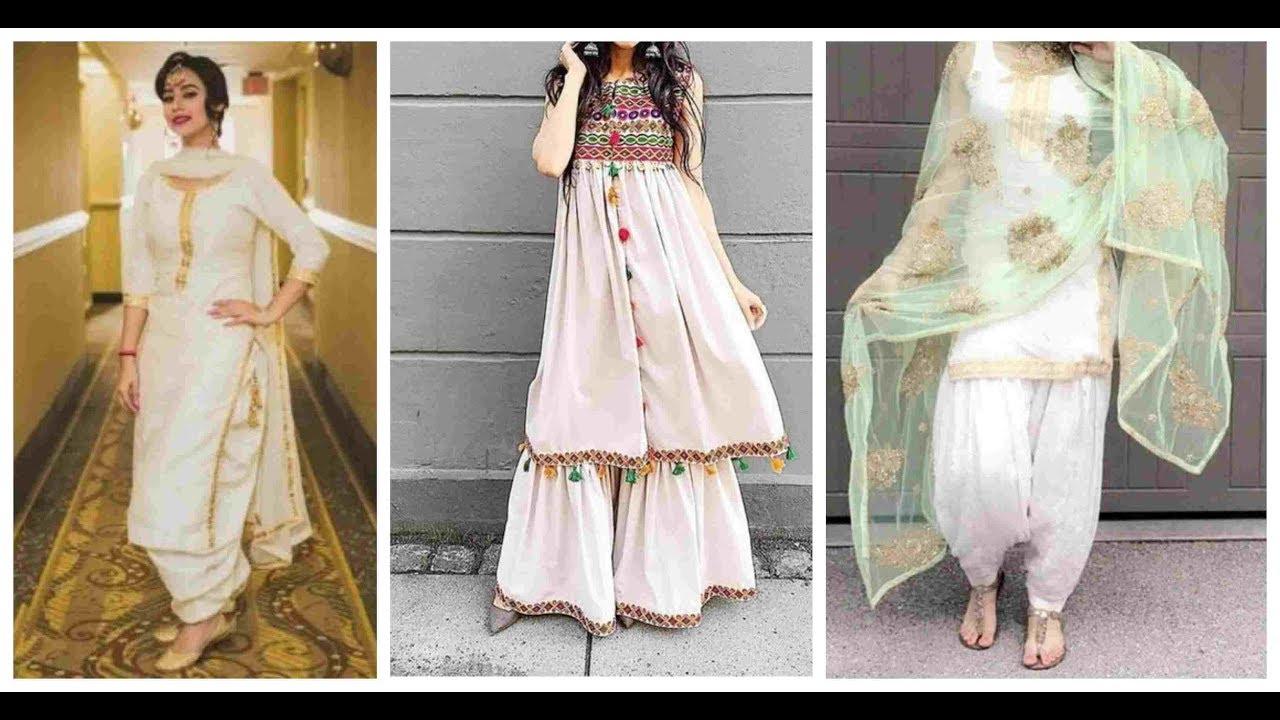 Stylish Trendy White Dresses Suit Design 2019 2020 White Punjabi Suits Fashion World Youtube