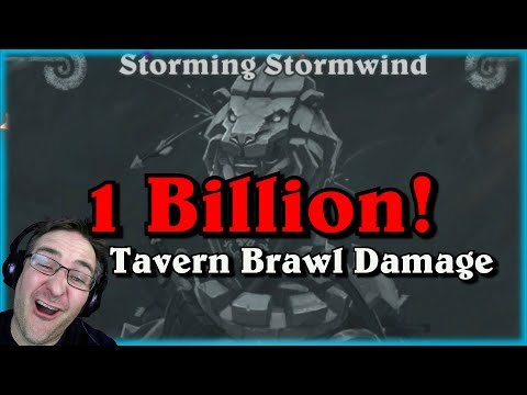 1 Billion Damage Tavern Brawl Storming Stormwind ~ Whispers of the Old Gods ~ Hearthstone