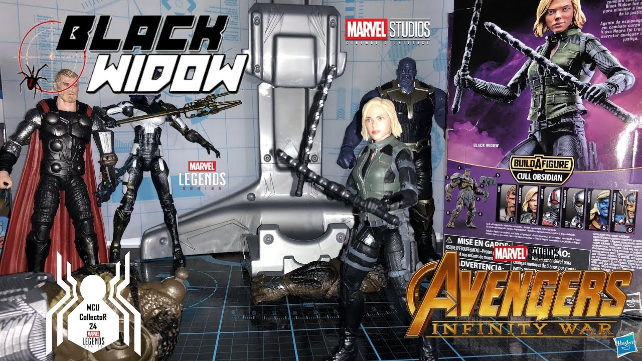 Marvel Legends Avengers Infinity War Black Widow BAF Cull Obsidian New