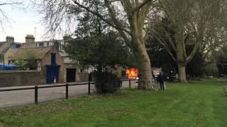 Engine fire in Cambridge