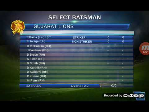 Gujrat lion vs dehli team best cricket match game video Execellent best top and good game