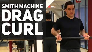 Smith Machine Drag Bicep Curl Video