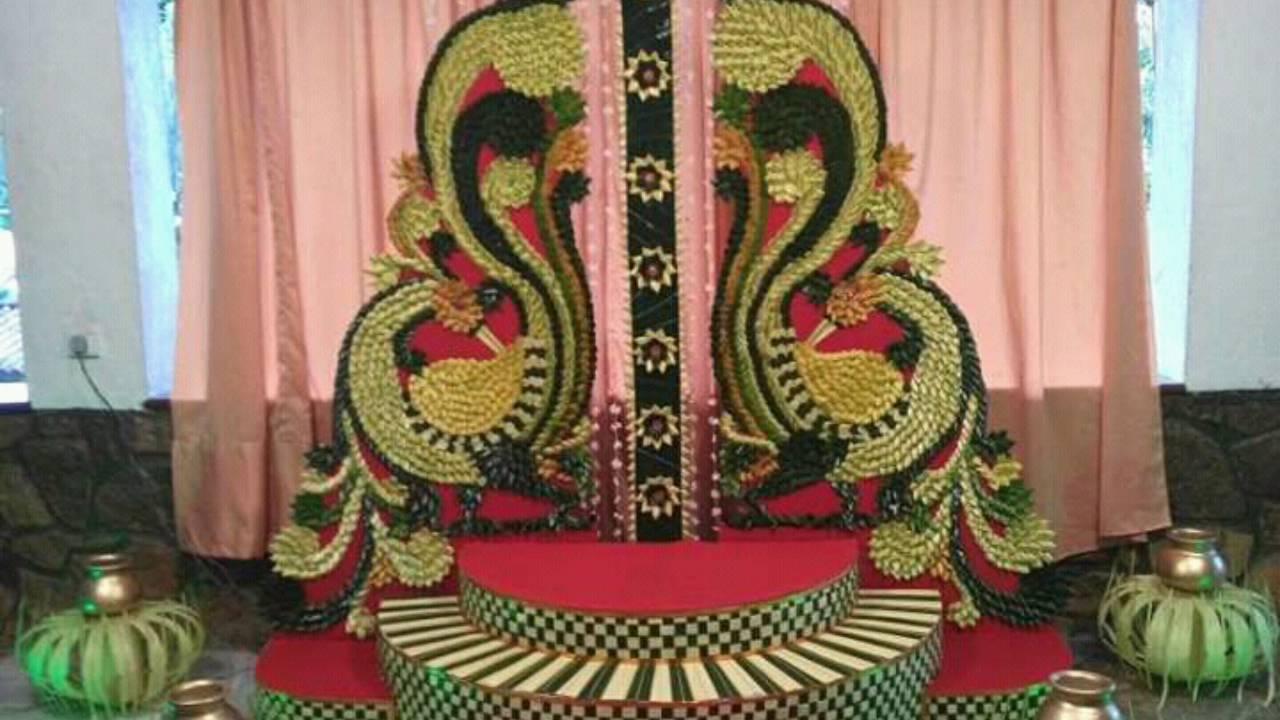 Wedding decoration and pirith mandapa...sisira artworks.... - YouTube for Gokkola Pahana  585ifm