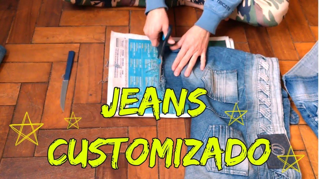 26a325e939e5b Como cortar uma calça Jeans