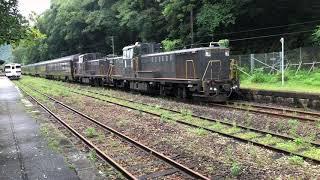 【4K】ななつ星in九州 白石駅発車 DE10重連