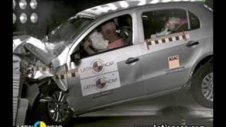 Crash test com o Volkswagen Gol Trend 1.6 -- com airbag