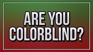 Are You Colorblind?