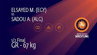 1/2 GR - 67 kg: M. ELSAYED (EGY) v. A. SADOU (ALG)