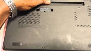 Removal steps of memory module - ThinkPad x240
