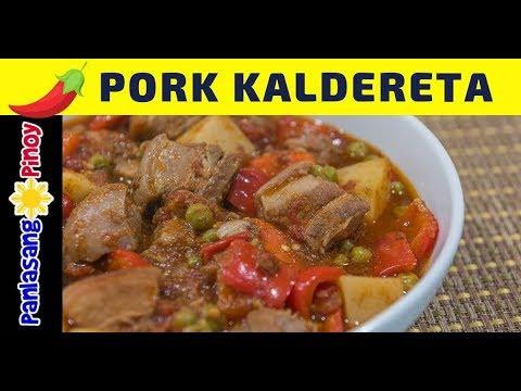 Spicy Pork Kaldereta - Panlasang Pinoy