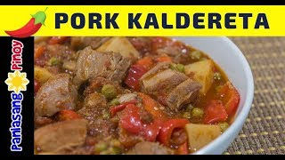 Spicy Pork Kaldereta - Panlasang Pinoy