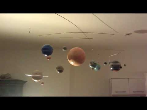 Solar System Mobile In Action Youtube