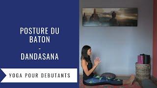 Posture du bâton Dandasana Yoga