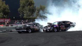 Double Trouble - Two Burnouts at the Same Time