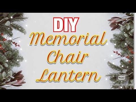 DIY Memorial Chair Lantern