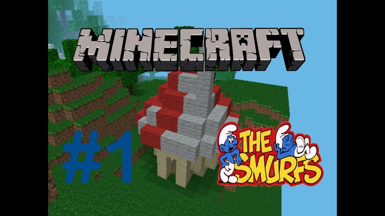 Minecraft pe how to create a smurf house comment construire une maison de - Construire une maison ...