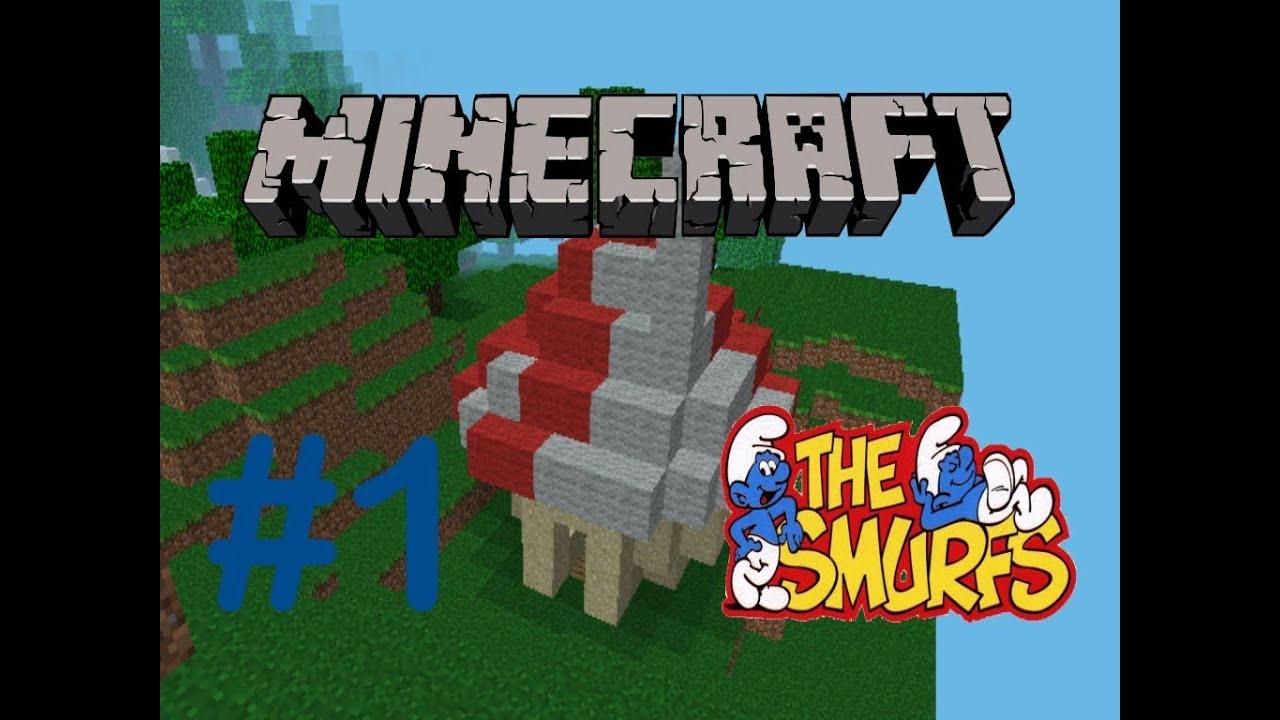Minecraft pe how to create a smurf house comment construire une maison de - Construire une maison minecraft ...